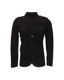 Pretty Green Mens Black Lennon Cord Jacket