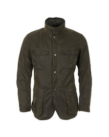 Barbour Lifestyle Mens Green Ogston Wax Jacket