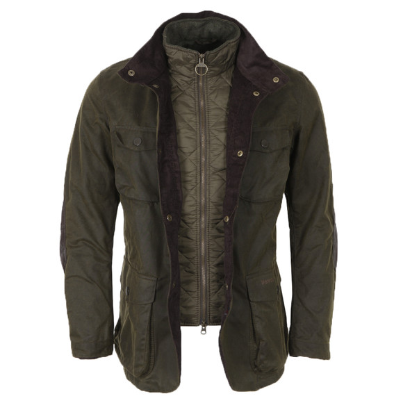 Barbour Lifestyle Mens Green Ogston Wax Jacket main image