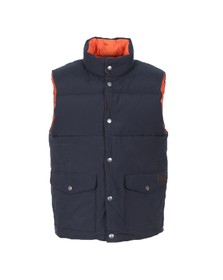 Gant Mens Blue Reversible Vest Jacket