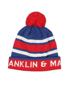 Franklin & Marshall Mens Red Stripe Bobble Hat