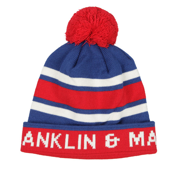 Franklin & Marshall Mens Red Stripe Bobble Hat main image