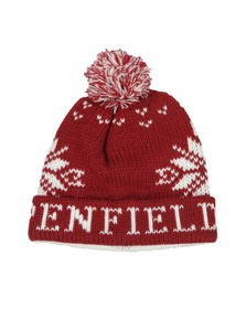 Penfield Mens Red Dumont Snowflake Bobble Beanie