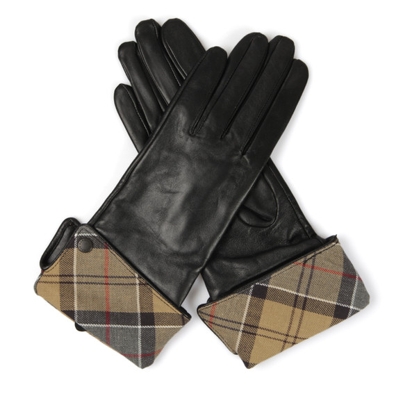 Barbour Heritage Womens Black Lady Jane Leather Glove main image
