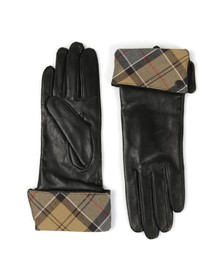 Barbour Heritage Womens Black Lady Jane Leather Glove