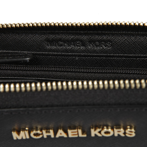 Michael Kors Womens Black Jet Set Travel Large Coin Multi Function Phone Case main image