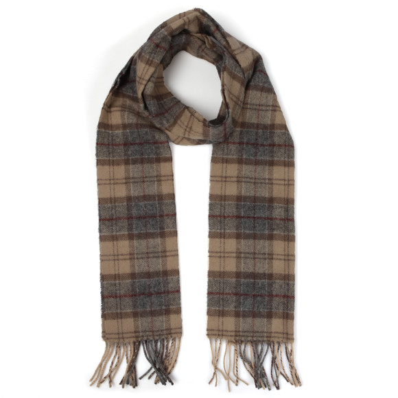 Barbour Lifestyle Mens Multicoloured Tartan Lambswool Scarf