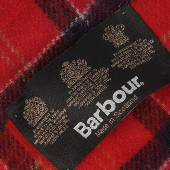 Barbour Lifestyle Mens Red Cardinal Tartan Lambswool Scarf main image