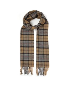Barbour Lifestyle Mens Beige Tartan Lambswool Scarf