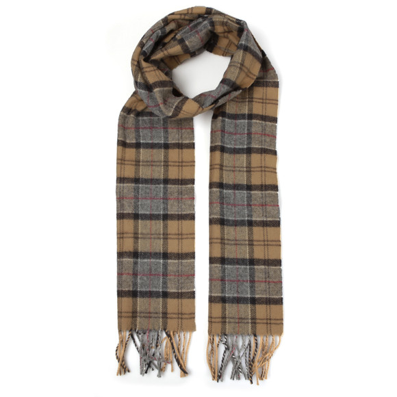 Barbour Lifestyle Mens Beige Dress Tartan Lambswool Scarf main image