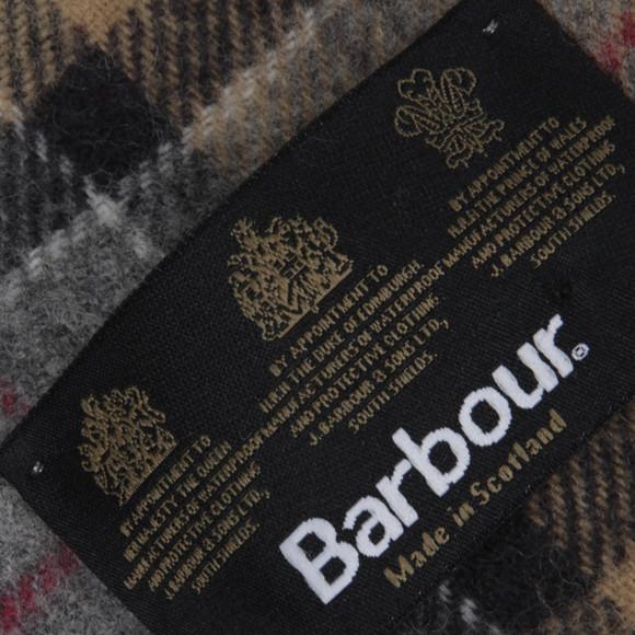 Barbour Lifestyle Mens Beige Tartan Lambswool Scarf main image