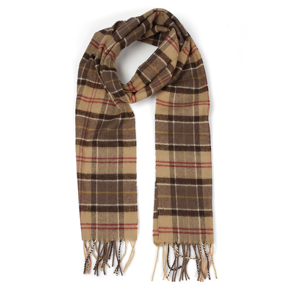Barbour Lifestyle Mens Brown Lambswool Scarf main image