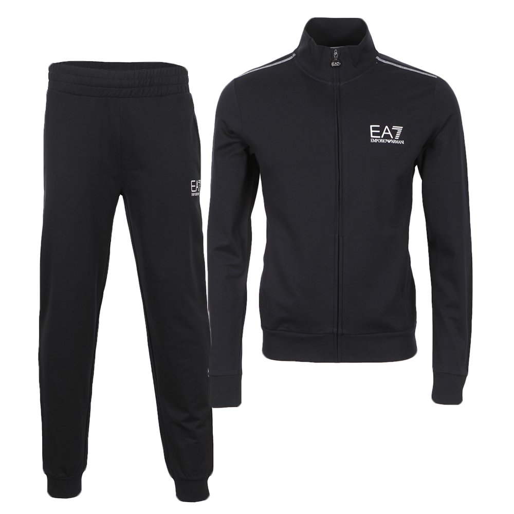 EA7 Emporio Armani Mens Blue Train Core ID Tracksuit main image. Loading  zoom 02b4567fb1f