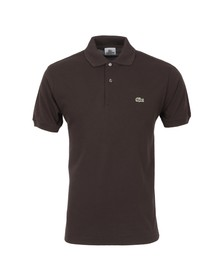 Lacoste Mens Brown L1212 Brownie  Plain Polo Shirt