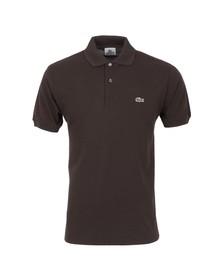 Lacoste Mens Brown L1212 Brownie Plain Polo Shirt