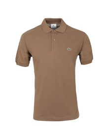 Lacoste Mens Brown L1212 Terreau Plain Polo Shirt