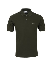 Lacoste Mens Green L1212 Sanglier Plain Polo Shirt