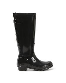 Hunter Womens Black Original Back Adjustable Gloss Boot