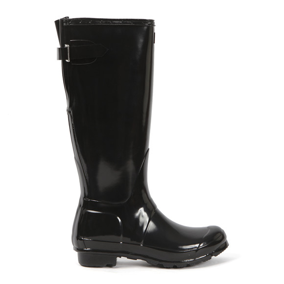Hunter Womens Black Original Back Adjustable Gloss Boot main image