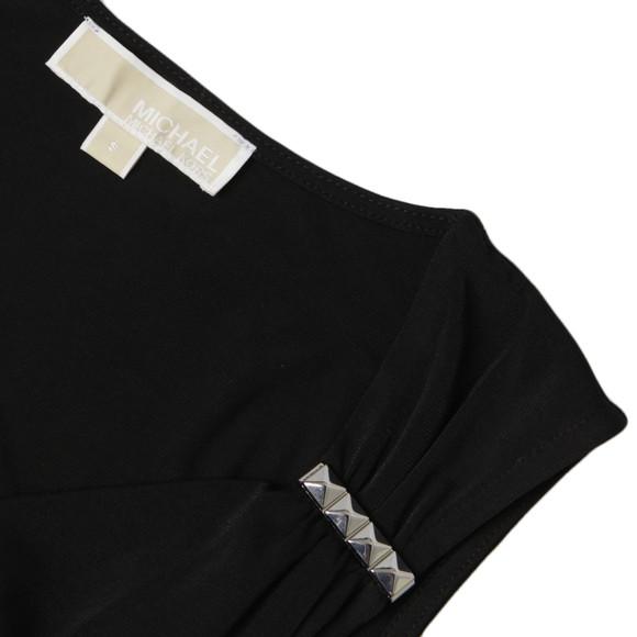 Michael Kors Womens Black Sleeveless Pyramidbar Wrap Dress main image