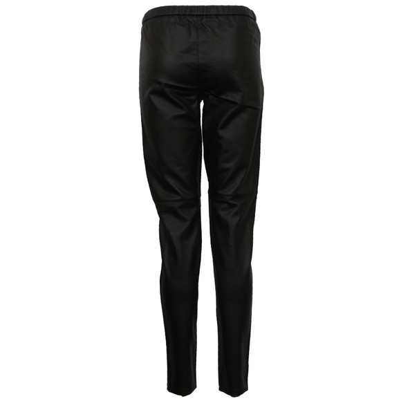 Michael Kors Womens Black Faux Leather Legging  main image