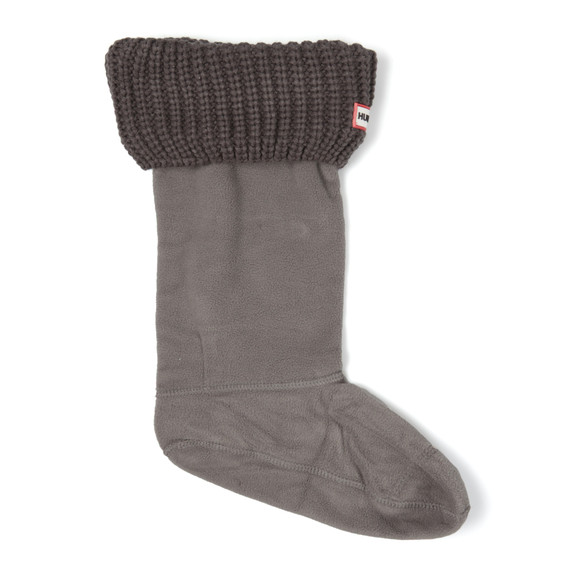 Hunter Unisex Grey Half Cardigan Boot Sock main image