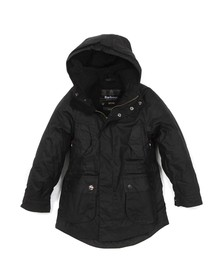 Barbour Steve McQueen Boys Black Boys Reiver Jacket