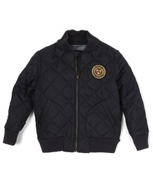 Gant Boys Blue Quilted Bomber Jacket