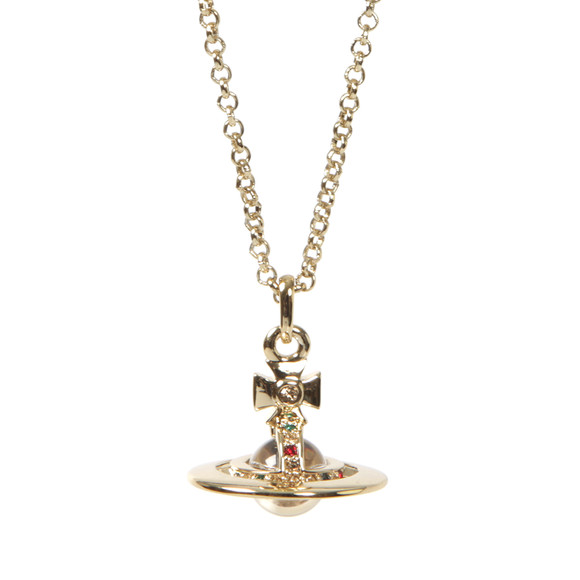 Vivienne Westwood Womens Gold Tiny Orb Pendant main image