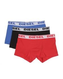 Diesel Mens Blue UMBX Blue/Black/Red Shawn 3 Pack Boxer