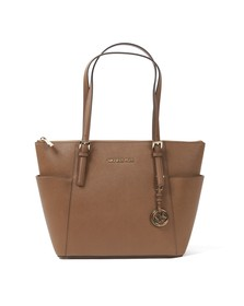 Michael Kors Womens Brown Jet Set East West Tote Bag