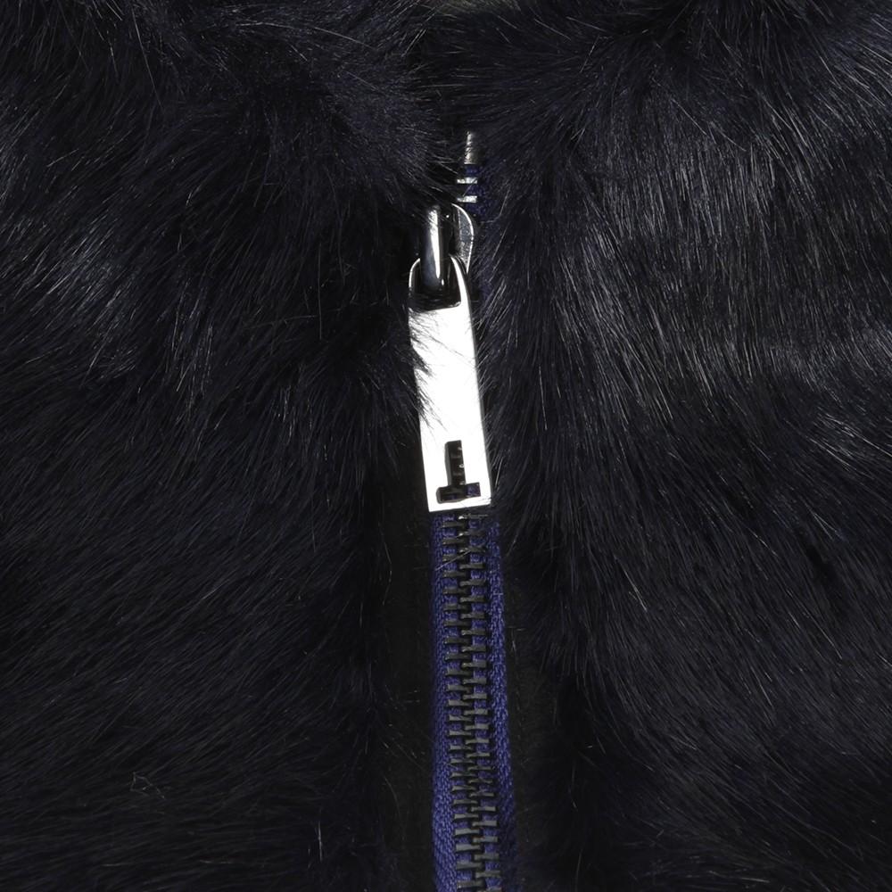 Arba Zip High Neck Faux Fur Collar main image