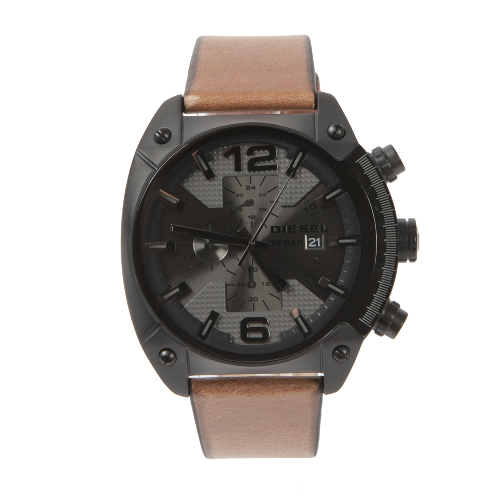 Overflow DZ4317 Leather Strap Chrono Watch main image