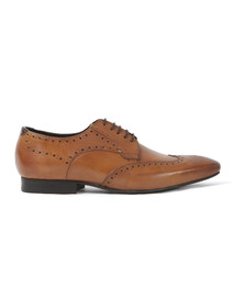H By Hudson Mens Brown Goring Shoe