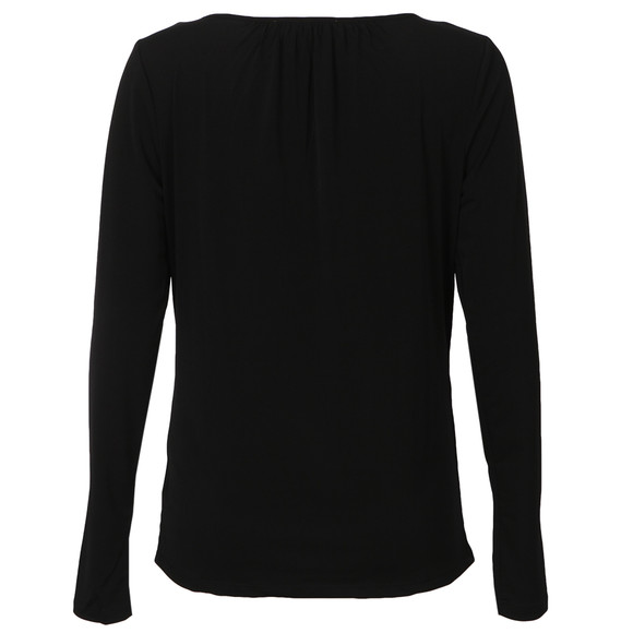 Michael Kors Womens Black Pyramid Stud Trim Top main image