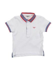 Armani Junior  Boys White ADF09 Tipped Polo Shirt