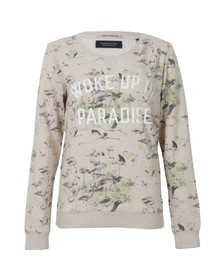 Maison Scotch Womens Off-white Vintage Inspired Summer Sweat