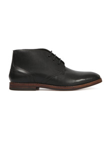 H By Hudson Mens Black Houghton II Leather Boot