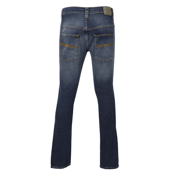 Nudie Jeans Mens Blue Tape Ted Raddled Redcast Jeans main image