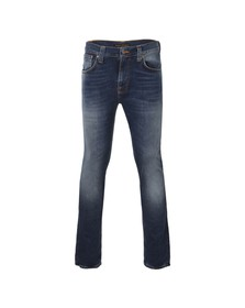 Nudie Jeans Mens Blue Tape Ted Raddled Redcast Jeans