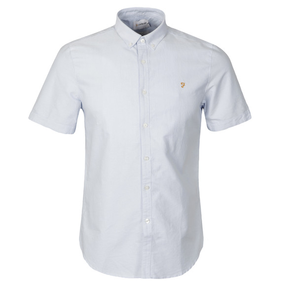 Farah Mens Blue Brewer S/S Shirt