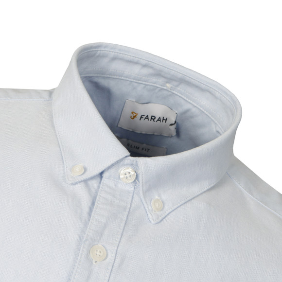 Farah Mens Blue Brewer Slim S/S Shirt main image