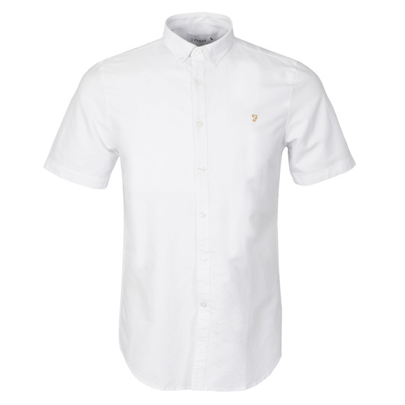 Farah Mens White Brewer S/S Shirt