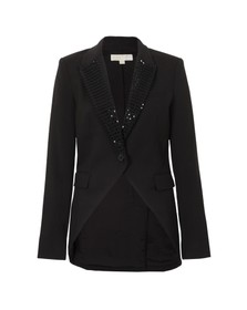 Michael Kors Womens Black Studded Tux Blazer