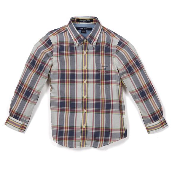 Gant Boys Blue Ocean Fresh Madras Check Shirt main image
