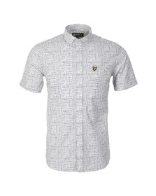 Lyle and Scott Mens White Etch Printed Shirt