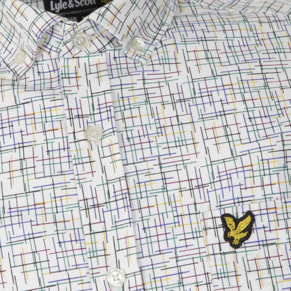 Lyle and Scott Mens White Etch Printed Shirt main image