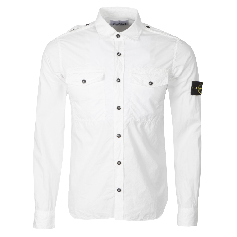 24085ec2d Stone Island Long Sleeve Double Pocket Shirt | Oxygen Clothing