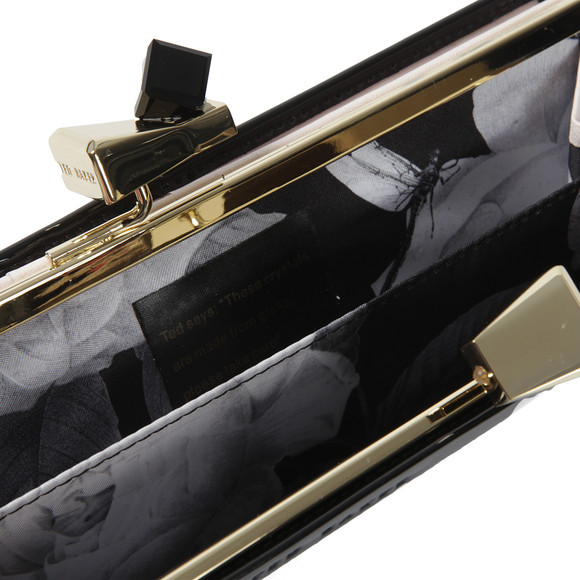 553c5604581e0 Ted Baker Womens Black Franny Patent Bow Popper Matinee Purse main image