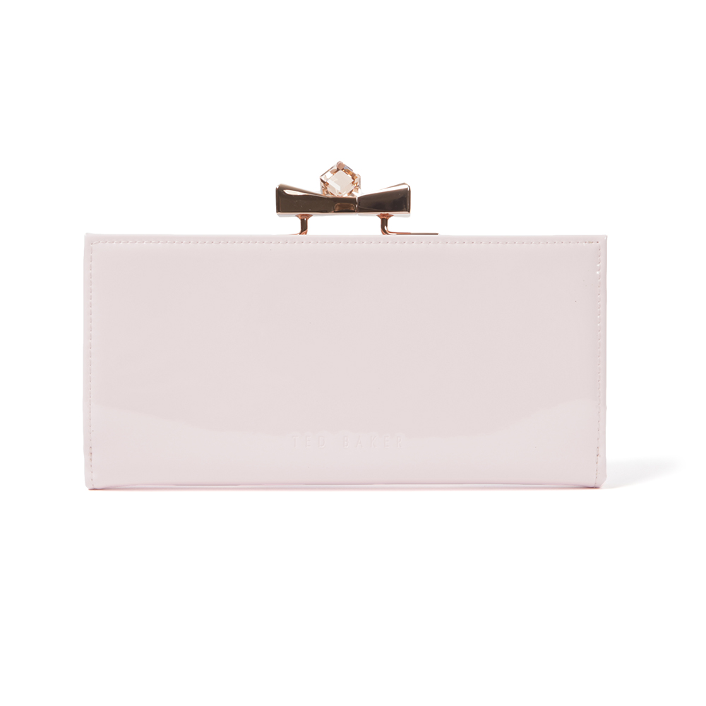 68788dd35ea467 Ted Baker Franny Patent Bow Popper Matinee Purse